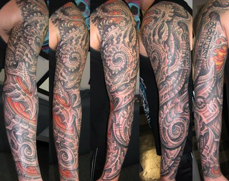 Tattoos - Biomech Sleeve - 114082