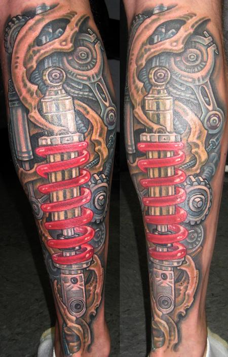 Tattoos - Biomech Lower Leg - 117184