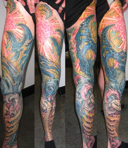 Tattoos - Biomech Leg Sleeve - 117348