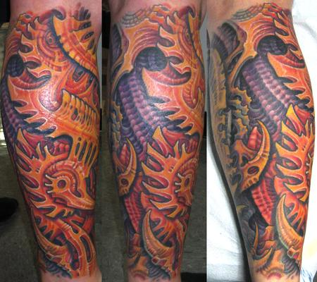 Tattoos - Biomech Lower Leg  - 114080