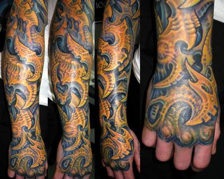 Tattoos - Bio Mech Forearm - 108221