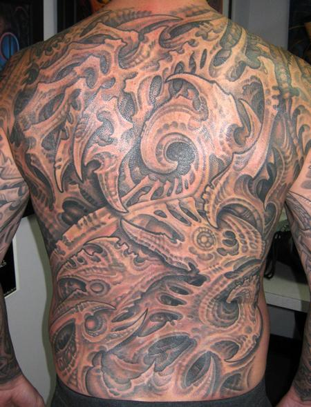 Tattoos - BIOMECH BACK PIECE - 122665