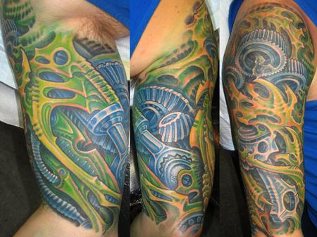 Tattoos - BIOMECH HALF SLEEVE - 122666