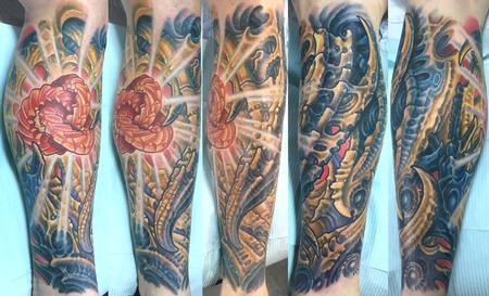 Tattoos - BIOMECH LOWER LEG - 134818