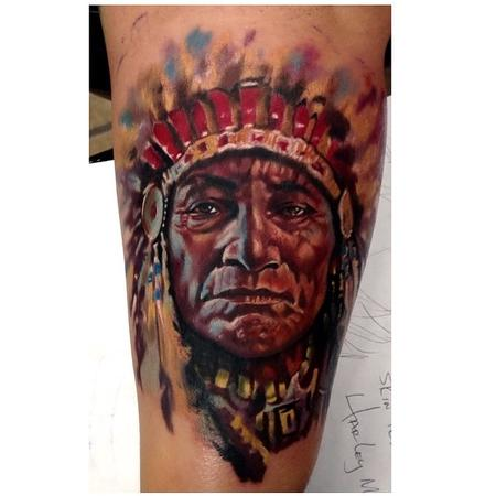 Tattoos - Indian Chief  - 91155