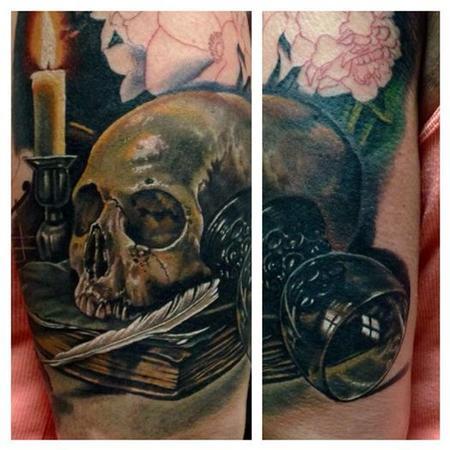 Tattoos - Skull Piece in Progress - 100739