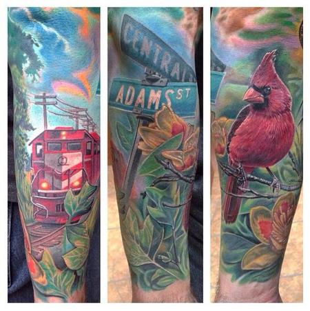 Tattoos - Half Sleeve Tribute to Indiana  - 101277