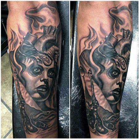 Tattoos - Surreal Heart Face - 79565