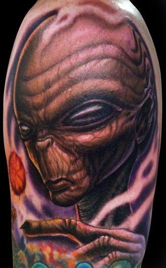 Tattoos - Freehand alien - 57041