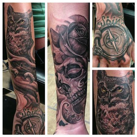 Tattoos - Start to a black and gray sleeve - 76041
