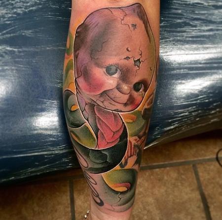 Tattoos - Kewpie Doll with a Snake Body  - 96232