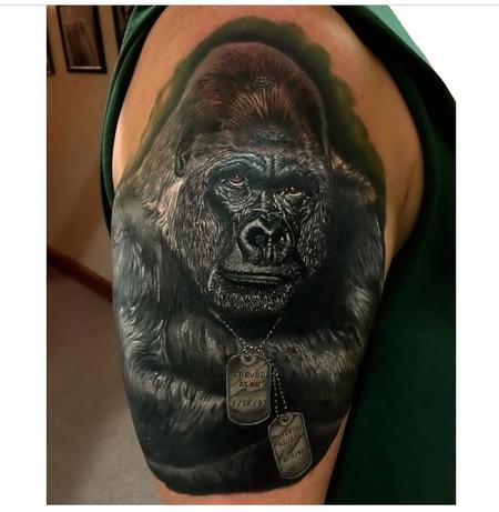 Tattoos - In Progress Gorilla  - 97938
