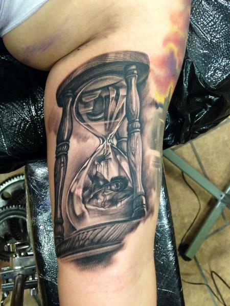 Tattoos - Man Trapped in Hourglass  - 99594