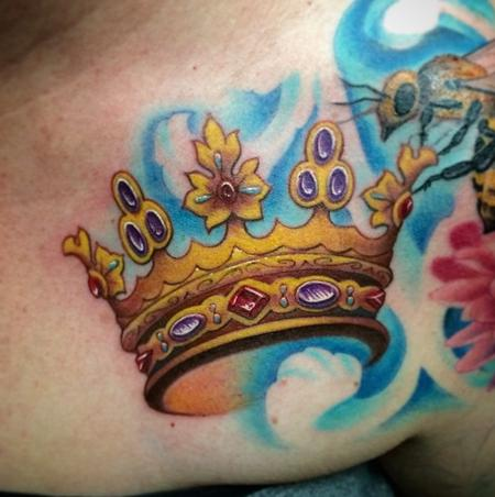 Tattoos - Crown of the Queen Bee Sleeve  - 99460