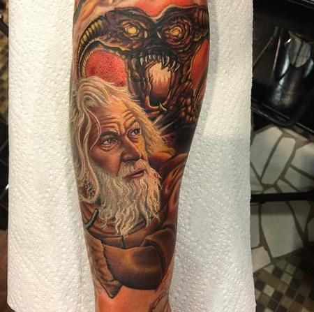 Tattoos - More Progress on the Lord of the Rings Sleeve  - 99695