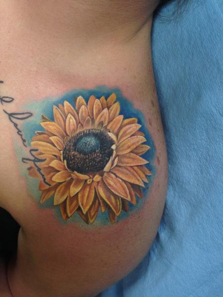 Tattoos - Sunflower  - 105073