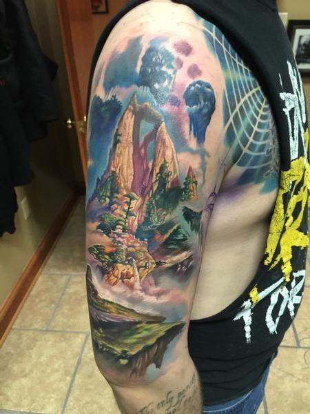 Tattoos - Landscape Scenery - In Progress - 112302