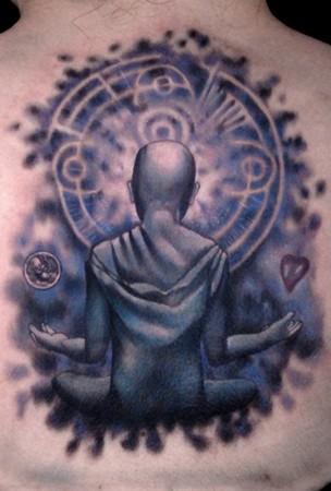 Tattoos - Meditating man - 43950