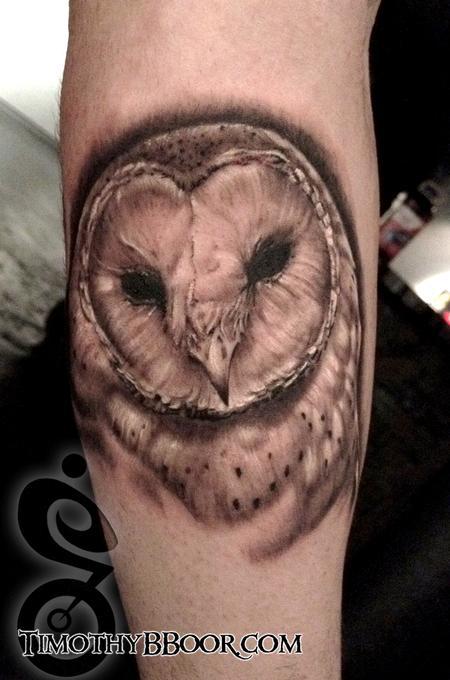 Tattoos - Owl   Part of an animal sleeve  - 71061