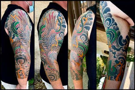 Tattoos - Eagles vs snake sleeve - 143392
