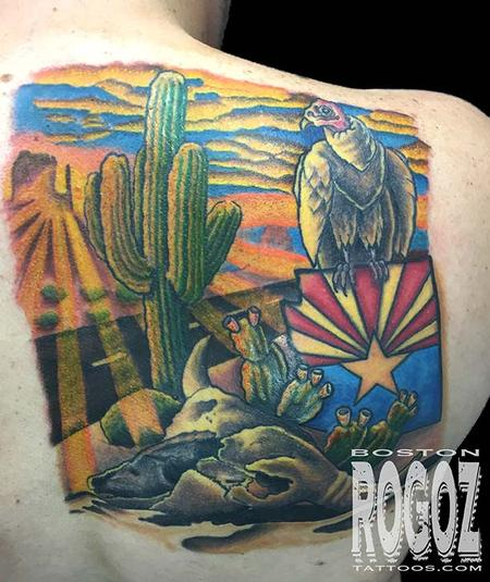 Tattoos - Arizona Desert Scene tattoo - 112228