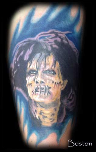 Tattoos - Billy Butcherson color portrait - 70101
