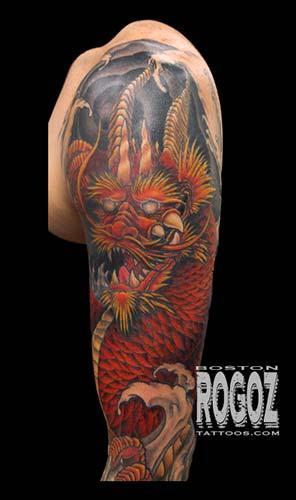 Tattoos - Detail of dragon sleeve - 100798