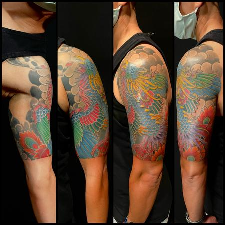Tattoos - Japanese Phoenix half sleeve - 143389