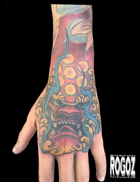 Tattoos - Foodog Hand - 139459