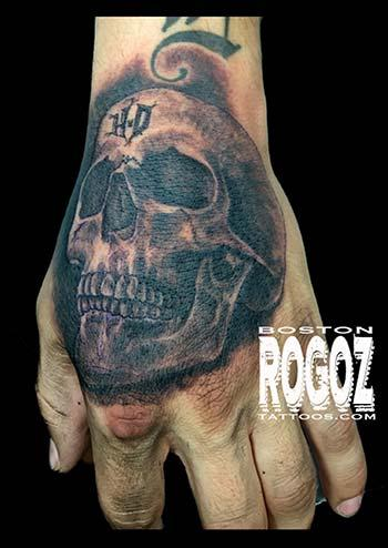 Tattoos - HD hand skull tattoo - 100795