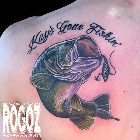 Boston Rogoz - Largemouth bass tattoo