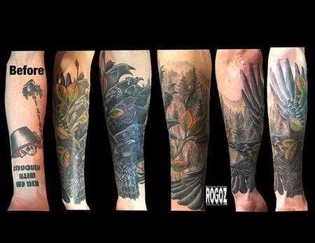 Tattoos - Murder of crows coverup - 127261