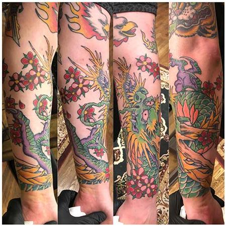 Tattoos - Japanese dragon forearm - 139460