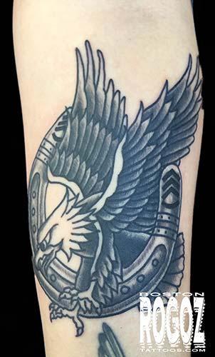 Tattoos - eagle and horseshoe tattoo - 119630