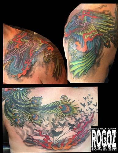 Boston Rogoz - Phoenix rising tattoo