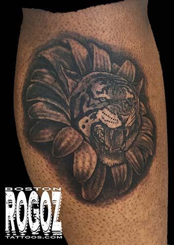 Tattoos - tiger/flower morph - 119656