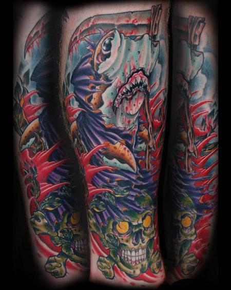 Tattoos - Grim Reaper Skark - 127424