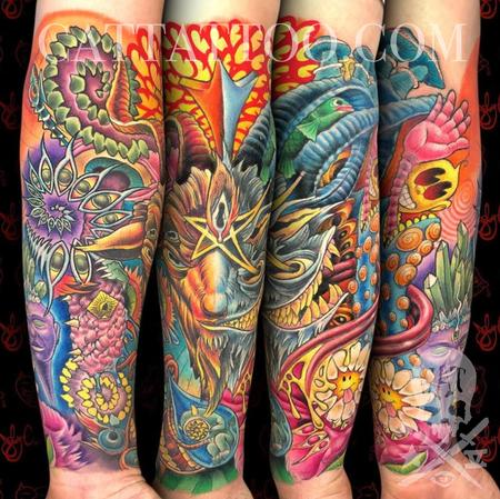 Tattoos - Psychedelic Sleeve - 142967