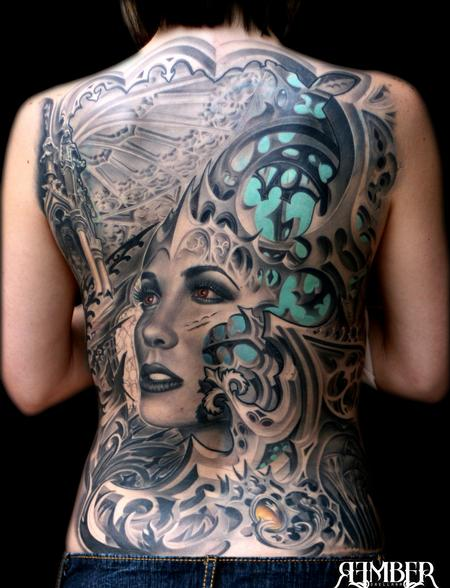 Tattoos - Gothic Back - 66854