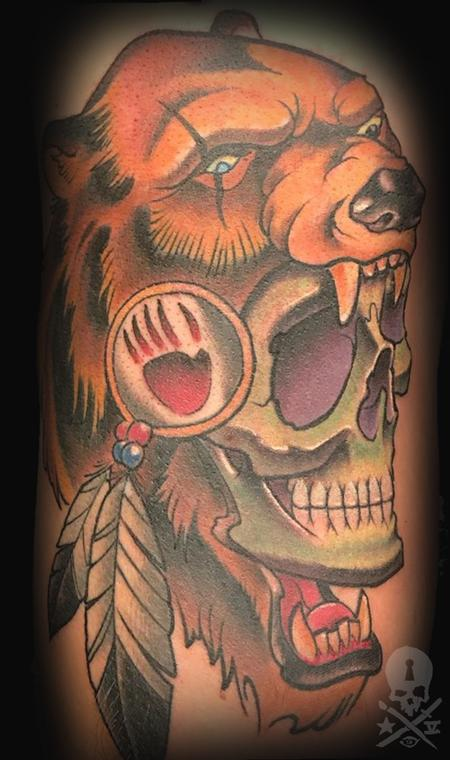 Tattoos - Skull/Bear - 130741