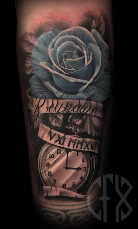 Tattoos - Rose/Watch - 137612