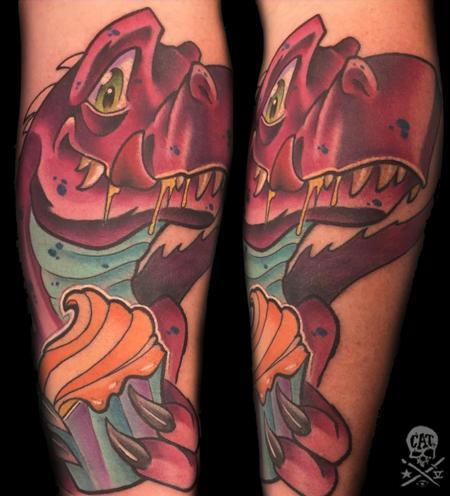 Tattoos - Dino - 128125