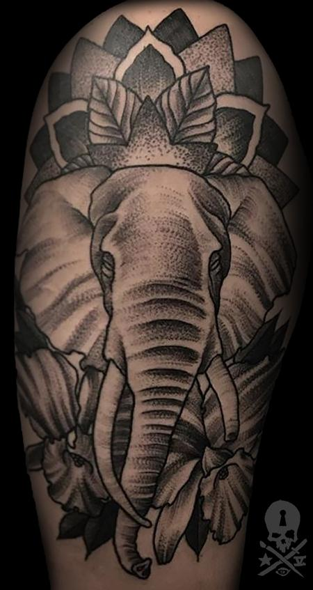 Tattoos - Elephant - 132289
