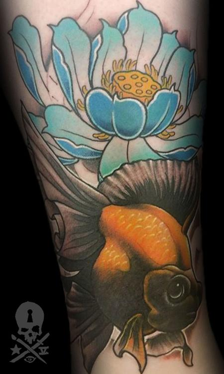 Tattoos - Fish/Lotus - 131058