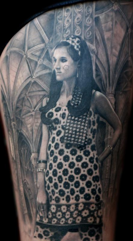 Tattoos - gothic portrait - 60255