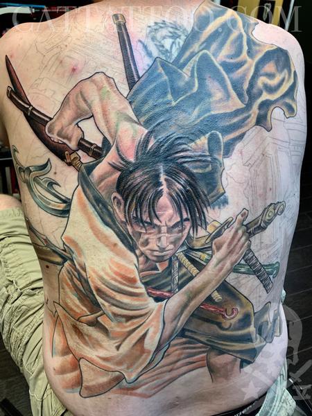 Tattoos - Samurai back tattoo  - 139865