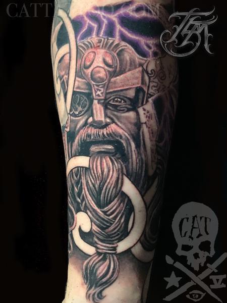 Tattoos - Odin Viking Sleeve - 142887