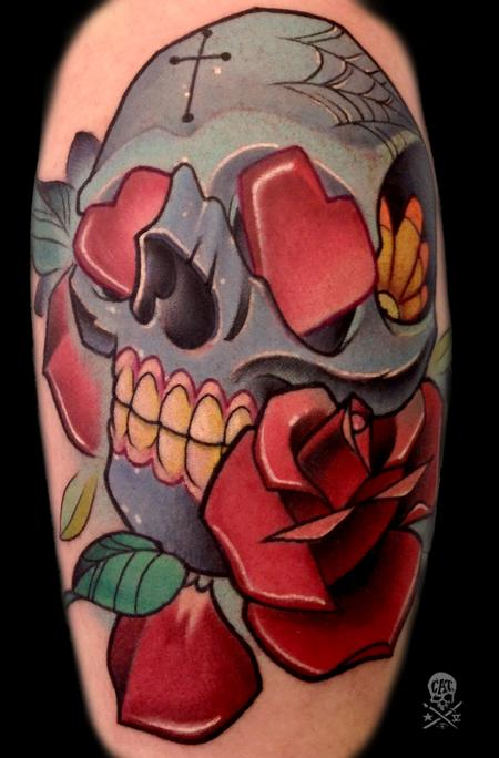 Tattoos - Skull and Rose - 126544