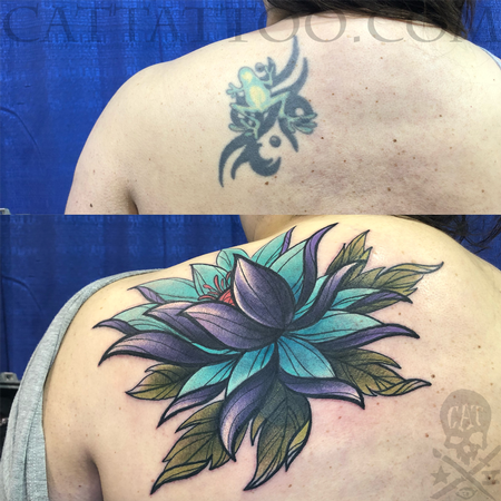 Tattoos - Frog to Flower Coverup - 140352