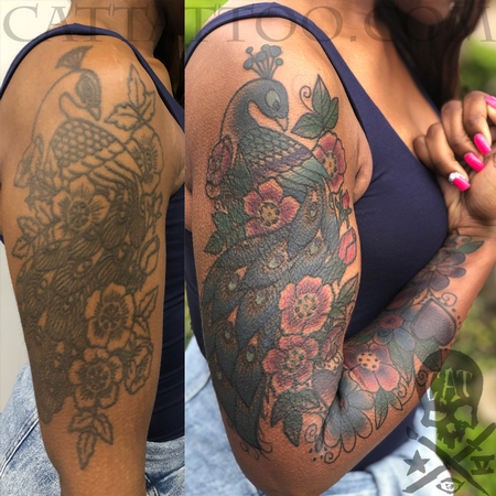 Tattoos - Peacock Coverup - 140354